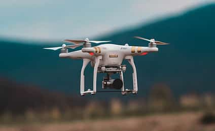 aerial drone flying