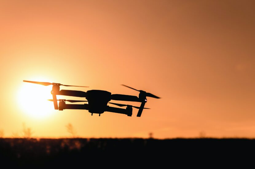 Picture of drone at sunset