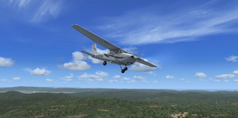 plane in flight simulator like real life