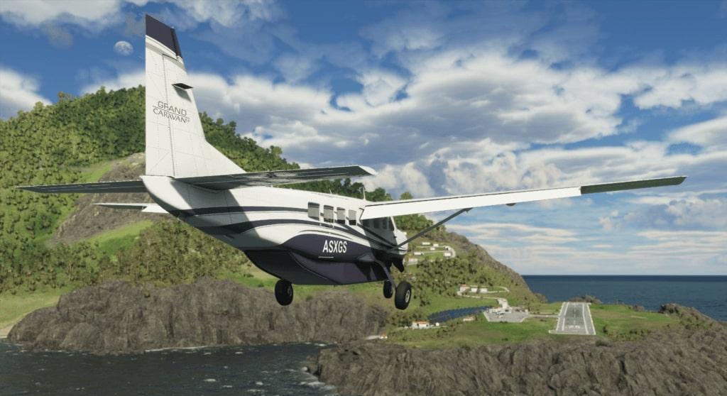 Plane landing in FS2020