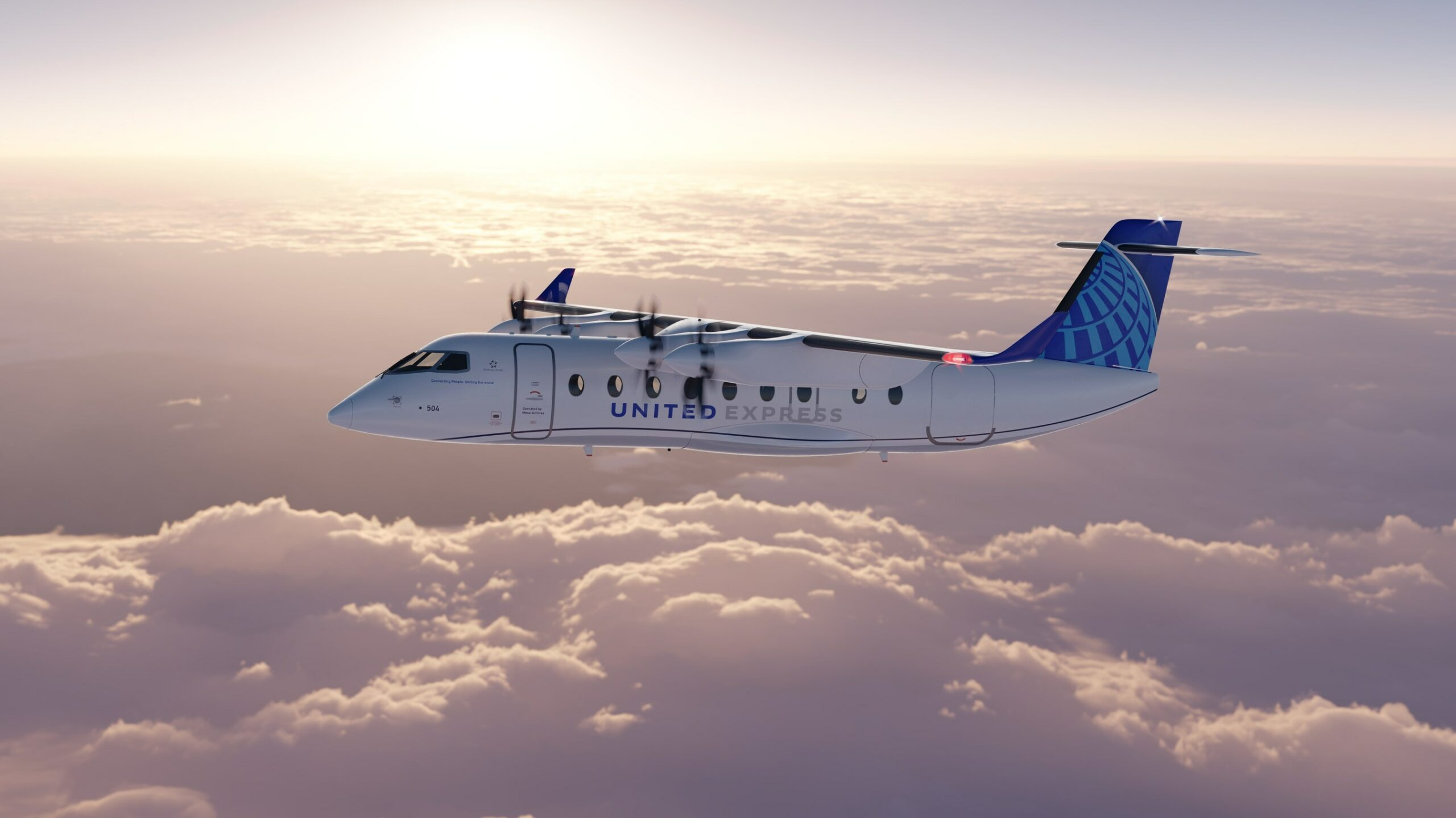 united electric plane