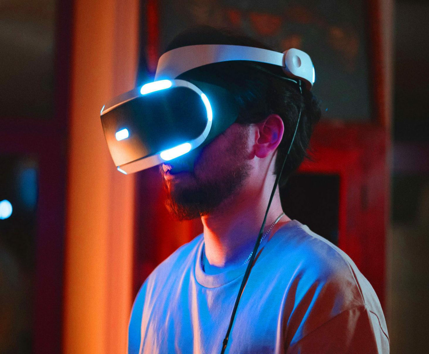 VR Flight Simulator Headset